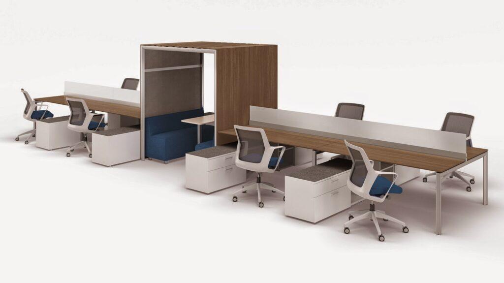 Benching workspace desk