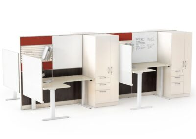 Sit-to-Stand: Open Area Workstations-Height Adjustable