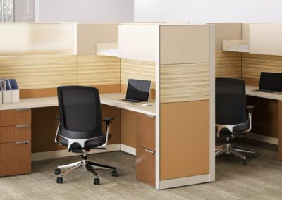 Open Area: Private Panel System Workstations